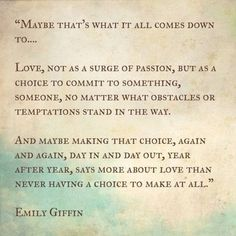 a choice to commit....