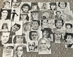 Johnny Depp Charcoal drawings