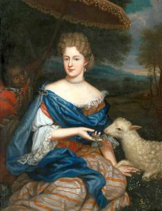 """Portrait of Marie Charlotte Sobieska, Duchess of Bouillon"" by an unknown artist (1730)"