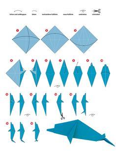 Origami Delphin