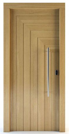 Interior wood doors are naturally beautiful. This is especially true if you are going to choose solid hardwood. Wooden Front Door Design, Wooden Front Doors, The Doors, Wood Doors, Panel Doors, Entry Doors, Front Entry, Sliding Doors, Bedroom Door Design