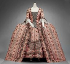 Woman's formal dress, c. 1770, French.