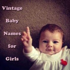Vintage Baby Names for Girls #parenting #pregnancy #parents #cute #adorable