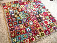 Granny Square Afghan - join as you go w/o uniform color