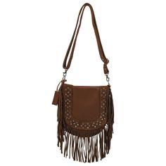 84610b6ca6d6 Shyanne® Women s Savannah Leather Fringe and Rhinestone Purse Leather Fringe