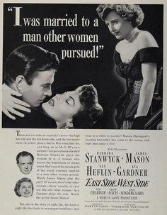 1950 Movie Ad East Side West Side Barbara Stanwyck MGM - ORIGINAL MOVIE2