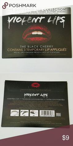 "Violent Lips ""The Black Cherry"" Lip appliques ▪Brand New - Never Used/unopened ▪3 lip appliques per pack Makeup Lipstick"