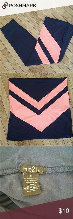 Rue 21 Maxi Skirt Rue 21 Maxi Skirt - navy and pink chevron Rue 21 Skirts Maxi