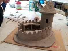 Clay castle 5th grade- this just upped the ante for next time we do Medieval art...