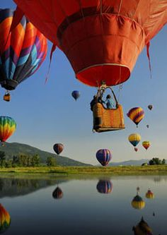 soar with the birds in a balloon :)