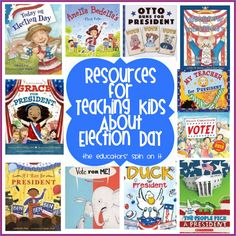 GO VOTE! Resources for Teaching Kids About Election Day from The Educators' Spin On It