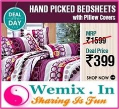 Hand Picked Bedheets With Pillow Covers Rs. 399