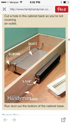 DIY Redirecting a vent register under a kitchen cabinet. | DIY ...