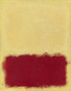 Mark Rothko - Untitled, 1958, Oil on paper mounted on canvas, 60 x 47.5 cm.   Galerie Vedovi, Bruxelles, Belgium