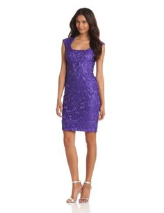 Jax Women's Lace Dress With Cap Sleeve