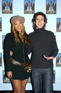Photo of Josh Groban & his friend musician  Beyonce -