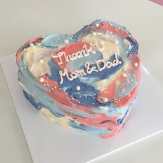 Pretty Birthday Cakes, Pretty Cakes, Beautiful Cakes, Cake Birthday, Cake Icing, Eat Cake, Mini Cakes, Cupcake Cakes, Korean Cake