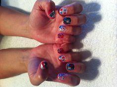 July 4th nails ~ shellac