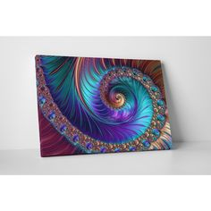 Shop for 'Peacock-esk Spiral' Gallery-wrapped Abstract Canvas Wall Art. Get free delivery at Overstock - Your Online Art Gallery Store! Get in rewards with Club O! Abstract Canvas Wall Art, Wall Canvas, Canvas Art Prints, Peacock Wall Art, Floral Wall Art, Peacock Bedroom, Peacock Bedding, Peacock Decor, Ink Gallery