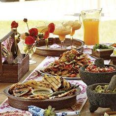 Cinco De Mayo...Menu and recipes...Williams Sonoma shrimp and steak quesadillas, Nachos with chicken, Stuffed Jalapeos, Steak Fajitas dinner-ideas