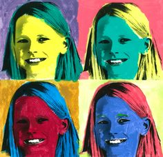 andy warhol I love seeing what the students come up with in art class. Their creativity and talent makes me smile. We studied Andy Warhol this month and the kids created all sorts of cool Andy Warhol Marilyn, Andy Warhol Pop Art, Andy Warhol Portraits, Portraits For Kids, Andy Warhol Flowers, Warhol Paintings, Pop Art For Kids, Pop Art Movement, Pop Art Posters