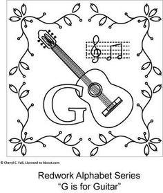 Free Redwork Alphabet Patterns A Through G