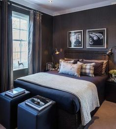 Could I have this as my bedroom, please! I would try light colored ottomans perhaps.