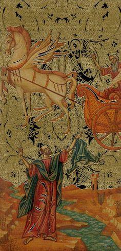 VII - Chariot - Golden Tarot of the Tsar / Tarocchi Dorati degli Zar / Goldenes Zaren-Tarot