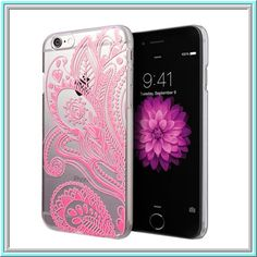 iPhone 6 - Intricate Embossed Swirls on Clear Case in Assorted Colors - Thumbnail 1