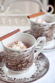 Spiced Hot Cocoa - perfect for a cold fall or winter day! You'll need 1/3 cup of Zulka Pure Cane Sugar, some cinnamon, nutmeg, vanilla, and a few other simple ingredients!