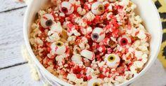 Caramel bloody eyeballs popcorn recipe Halloween Movie Night, Halloween 2020, Halloween Tricks, Popcorn Recipes, Scary Movies, Candy Corn, Trick Or Treat, Acai Bowl, Your Favorite