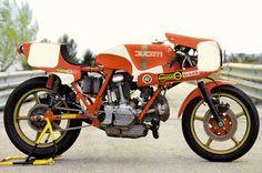 Ducati endurance racer inspiration. Motorbike Racers, Ducati Cafe Racer, Ducati Motorcycles, Cafe Racers, Ducati Sport Classic, Classic Bikes, Ducati Pantah, Ducati 750, Motorized Bicycle