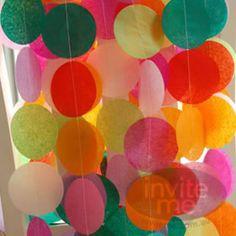 Tissue Paper Garland Rainbow
