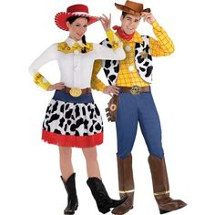 Adult Jessie & Woody Couples Costumes - Toy Story