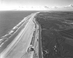Aerial view of Huntington Beach coastline, Huntington Beach, California, February Ontario California, California History, Vintage California, Southern California, Old Pictures, Old Photos, Vintage Photos, Huntington Beach Ca, February 22