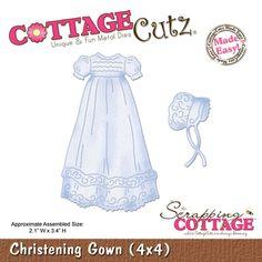 """CottageCutz Die 4""""x4"""" - Christening Gown Made Easy"""