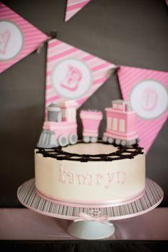 Girly Train themed birthday party
