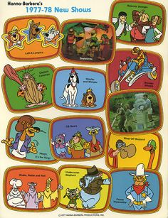 Laff-a-lympics; Captain Caveman I remember well and I kinda remember the CB Bears and Woofer and Wimper but the others I don't recall if I ever saw them :)