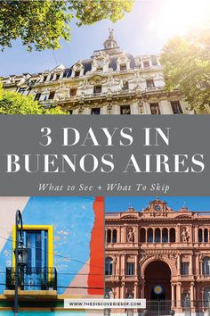 The Buenos Aires City Guide. Cool things to do in Buenos, Aires, Argentina. Explore colourful La Boca, find the best food and enjoy the city's hectic nightlife in this 3 day Buenos Aires guide. Europe Travel Tips, Travel Usa, Travel Guides, Travel Destinations, Europe Packing, Traveling Europe, Backpacking Europe, Packing Tips, Visit Argentina