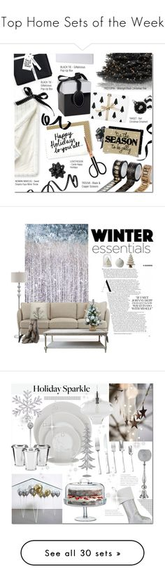 """Top Home Sets of the Week"" by polyvore ❤ liked on Polyvore featuring interior, interiors, interior design, home, home decor, interior decorating, Sweet Dreams, Holly's House, National Tree Company and Lands' End"