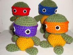 Tiny Tot Ninja Turtles Amigurumi w/ Pattern