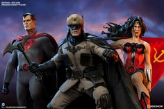 Batman, Superman and Wonder Woman Red Son Premium Format Figures