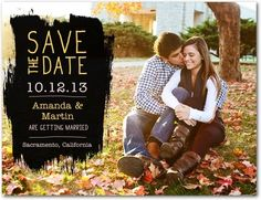 Save the Date Postcards Chalkboard Swatch - Front : Mustard