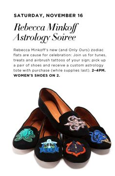 103f0823a2a75 Join Bloomingdales Glendale in welcoming Rebecca Minkoff s new (and  Bloomingdales exclusive) zodiac flats.