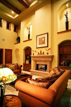 mediterranean living room images | Story Living Room - mediterranean - living room - austin - by ...