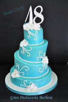Le torte decorate di CettyG...: 18°Compleanno ...color Tiffani wonky cake
