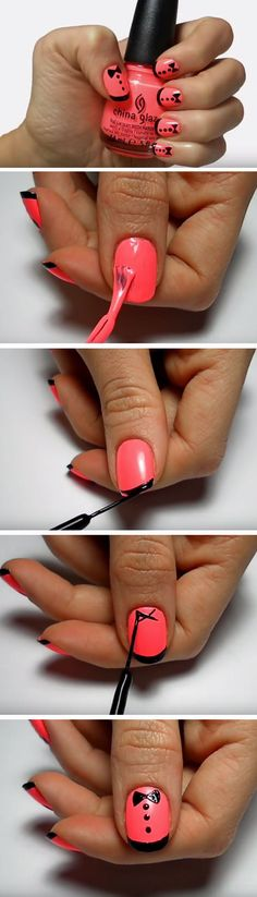 Pink Tuxedos | Quick and Easy Nail Designs for Special Occasions