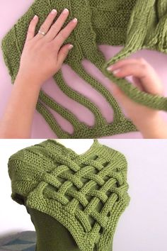 Braided Celtic Knot Scarf Knitting Pattern - Learn How To . - Braided Celtic Knot Scarf Knitting Pattern – Learn how to knit a braided Celtic knot scarf. Easy Knitting Projects, Knitting Videos, Knitting For Beginners, Knitting Stitches, Knitting Patterns Free, Free Knitting, Crochet Patterns, Diy Projects, Crochet Projects