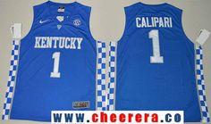 Men's Villanova Wildcats #1 John Calipari Royal Blue College Basketball 2017 Nike Swingman Stitched NCAA Jersey