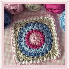 Transcendent Crochet a Solid Granny Square Ideas. Wonderful Crochet a Solid Granny Square Ideas That You Would Love. Crochet Square Blanket, Crochet Motifs, Granny Square Crochet Pattern, Crochet Blocks, Crochet Squares, Crochet Stitches, Granny Squares, Crochet Crafts, Crochet Yarn